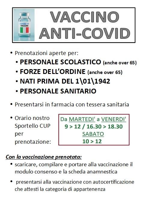 Prenotazione Vaccino Anti-Covid